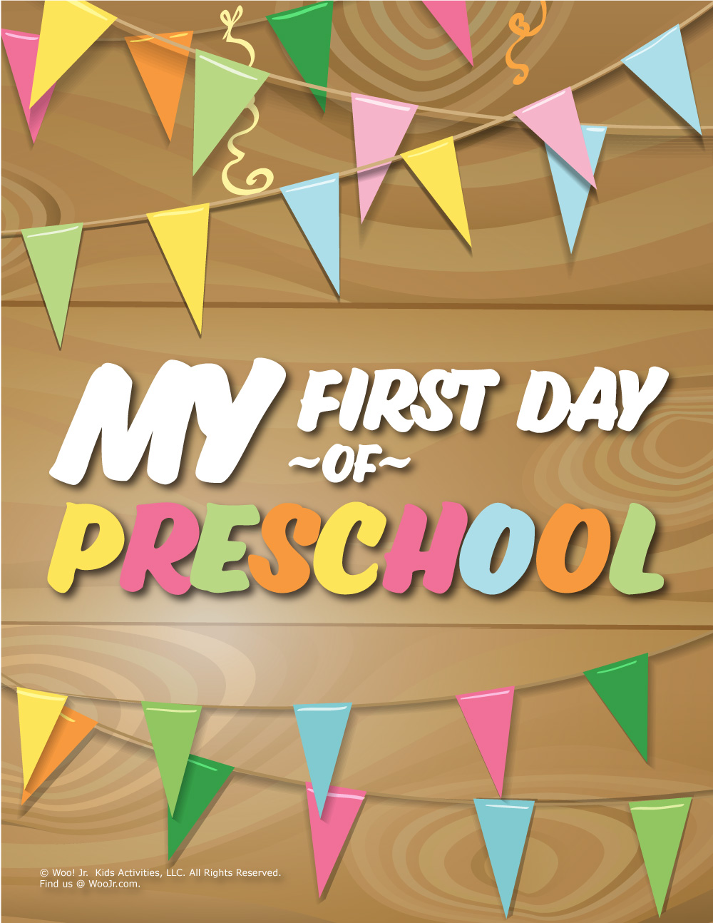graphic about First Day of Preschool Printable referred to as To start with Working day of Preschool Signal - Wooden Woo! Jr. Youngsters Functions