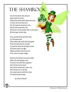 Shamrock Poem to Print