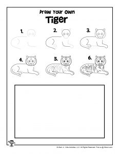 Tiger Drawing Step by Step