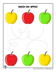 Toddler Apple Matching Worksheet