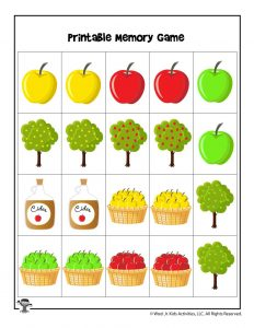 Apples Memory Matching Game