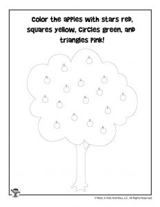 Apple Picking Color Identification Activity