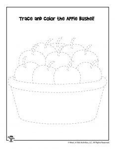 Apples Tracing and Coloring Activity
