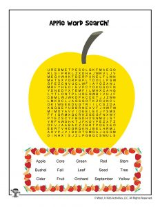Apple Picking Word Search