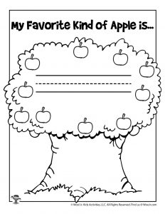 Favorite Apple Writing Practice & Coloring