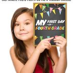 Printable First Day of School Signs for All Grades