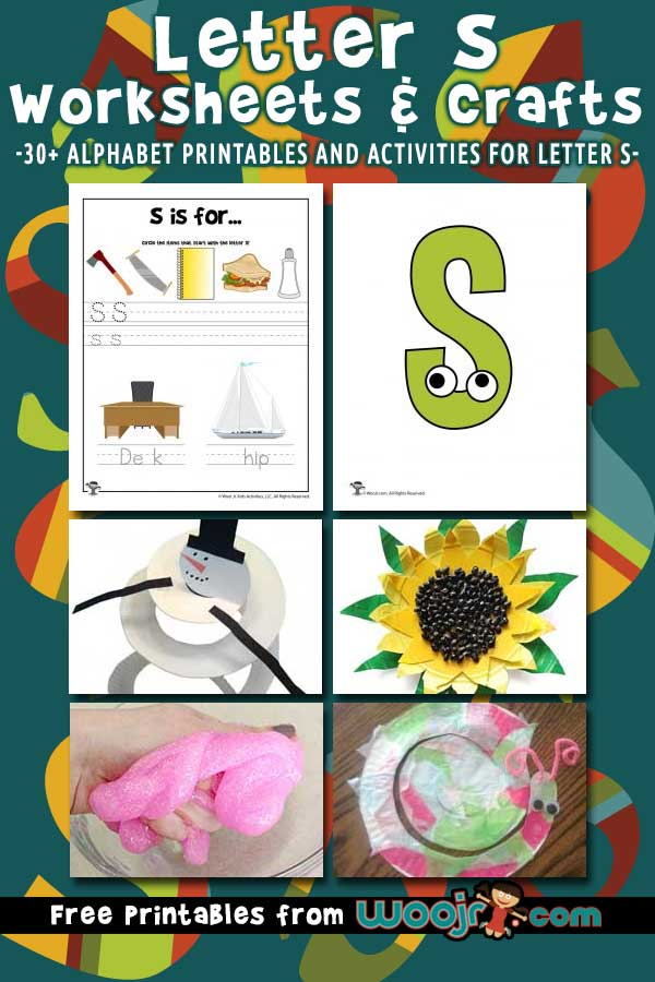 Letter S Worksheets and Crafts