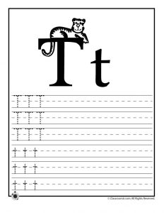 Letter T Tracing Practice