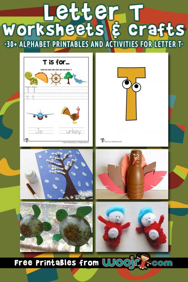 Letter T Worksheets and Crafts