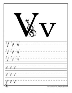 Letter V Tracing Practice