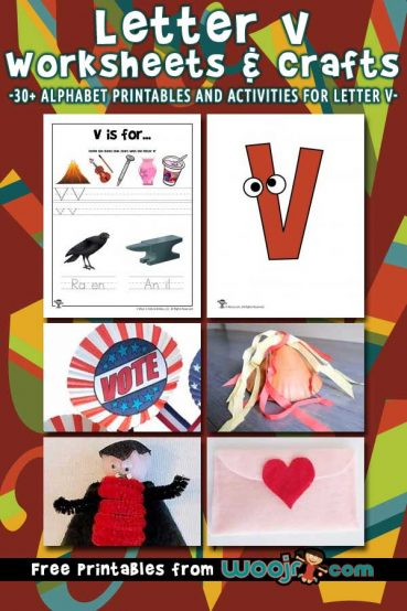 Letter V Worksheets & Crafts