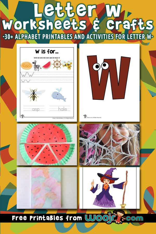 Letter W Worksheets and Crafts
