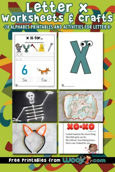 Letter X Worksheets & Crafts