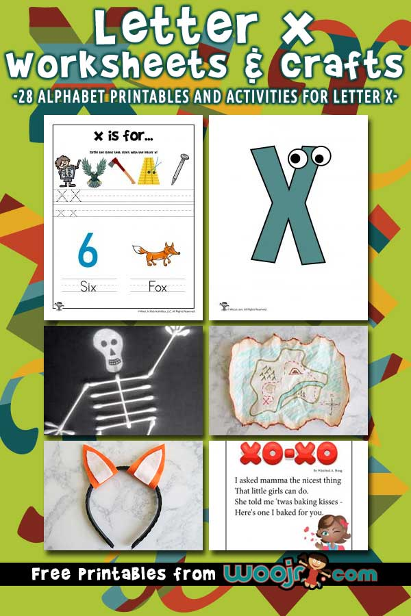 Letter X Worksheets and Crafts