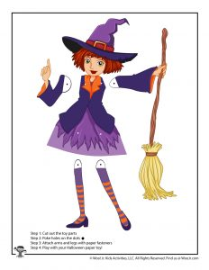 Witch Paper Puppet Toy