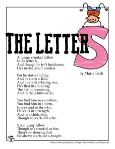 The Letter S Poem for Kids