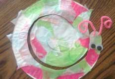 Snail Paper Plate Craft