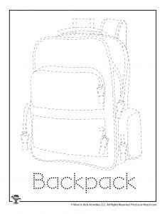 Backpack Tracing Drawing Activity