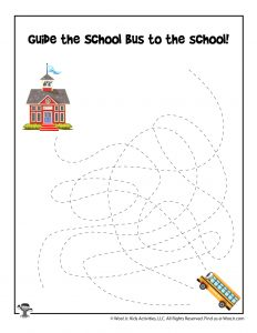 School Bus Tracing Game