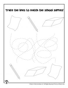 School Tracing and Matching Game