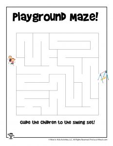 Back to School Easy Maze