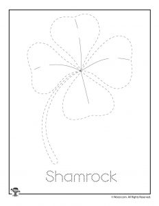 S is for Shamrock Word Tracing