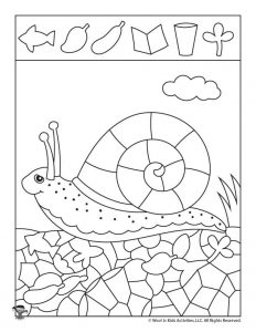 Snail Hidden Pictures Printable