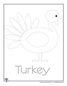 T is for Turkey Word Tracing