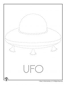 U is for UFO Word Tracing