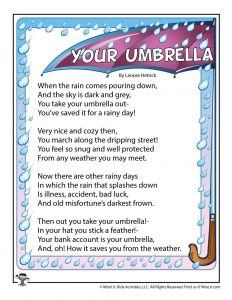 Umbrella Poem for Kids