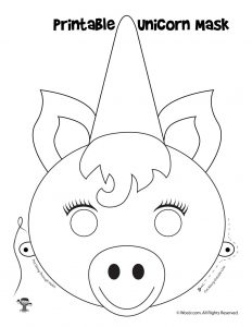 Unicorn Mask Printable Craft