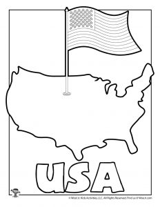 U is for USA Coloring Page