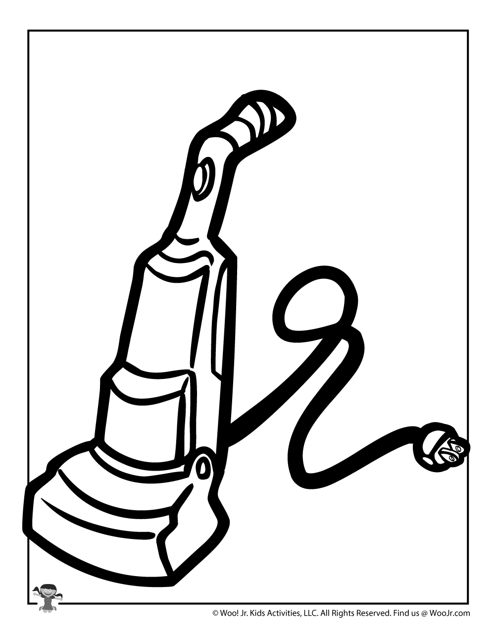 Vacuum Coloring Page | Woo! Jr. Kids Activities Vacuum Coloring Pages