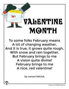 Valentine Month Poem for Children