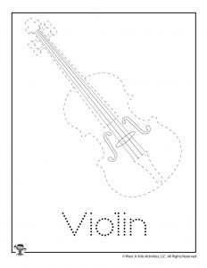 V is for Violin Word Tracing