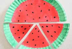 W Watermelon Paper Plate Craft