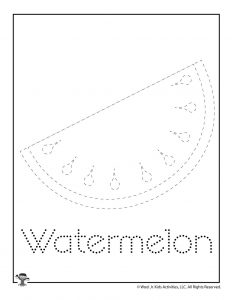 W is for Watermelon Word Tracing
