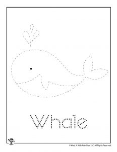 W is for Whale Word Tracing