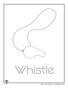 W is for Whistle Word Tracing