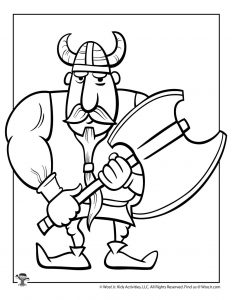 Ax Coloring Page