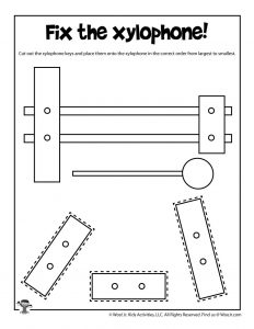 Xylophone Cut and Paste Activity