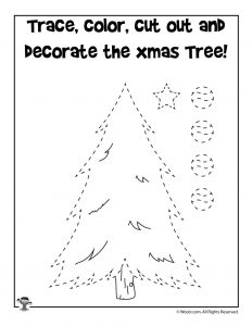 Xmas Tree Cut and Paste Game