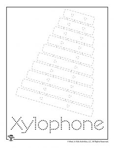 X is for Xylophone Word Tracing