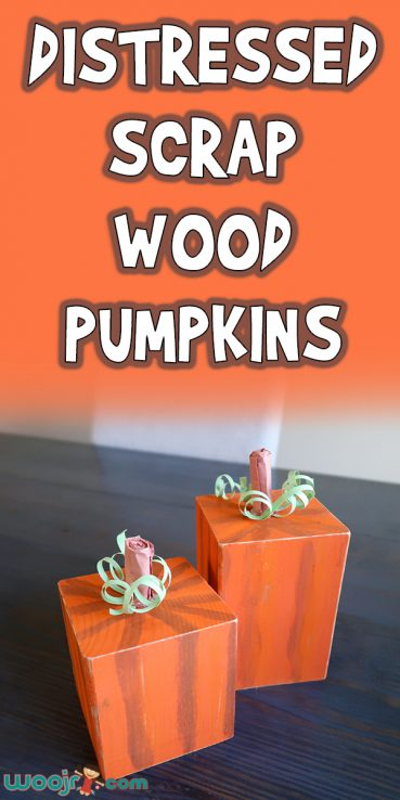 Distressed Scrap Wood Pumpkins