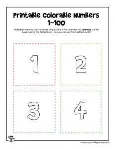 Printable Numbers 1-4