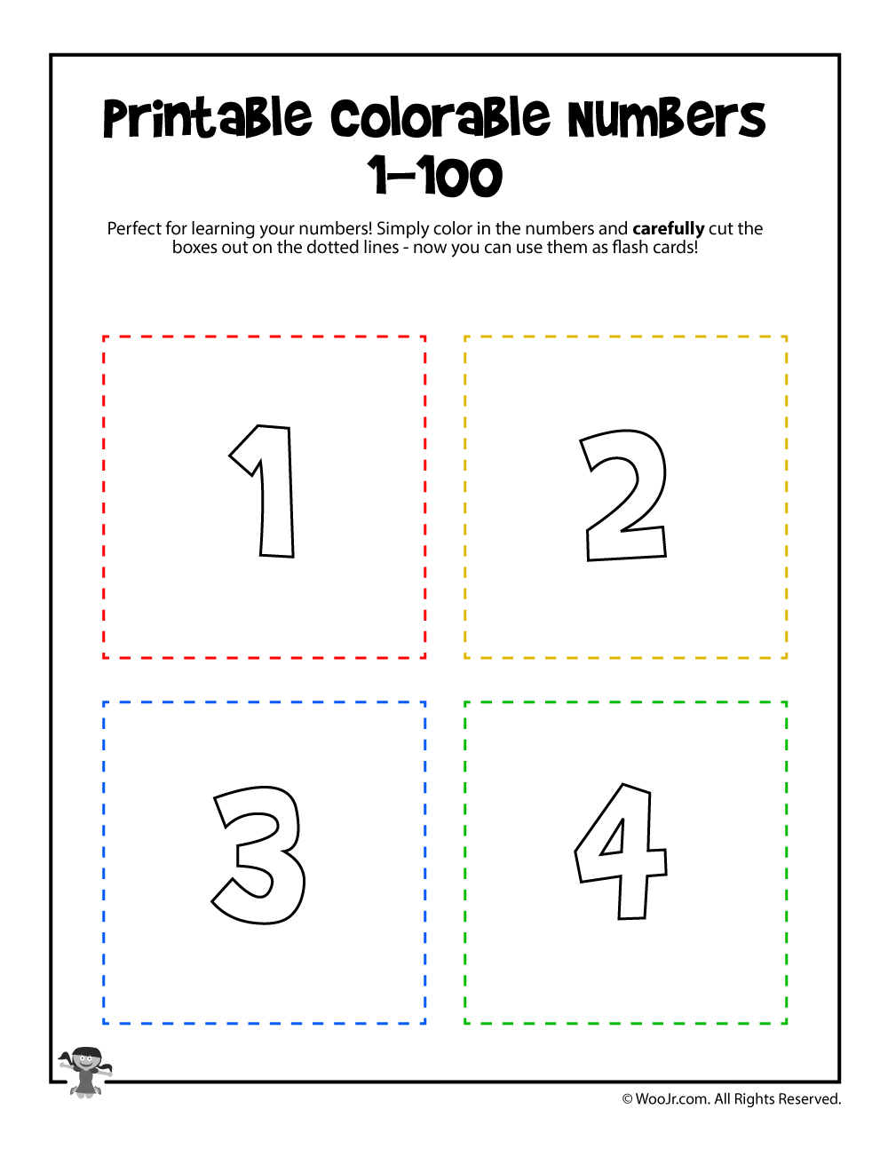 photo about Printable Numbers 1-100 named Printable Figures 1-4 Woo! Jr. Small children Things to do