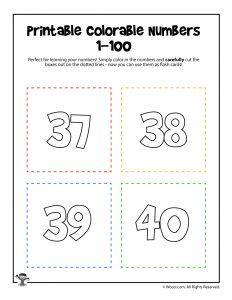 Printable Numbers 37-40