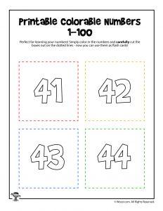 Printable Numbers 41-44
