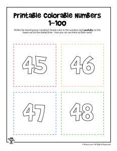 Printable Numbers 45-48