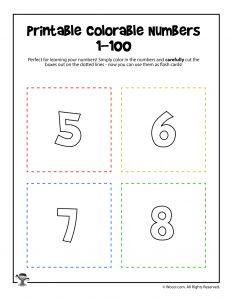 Printable Numbers 5-8